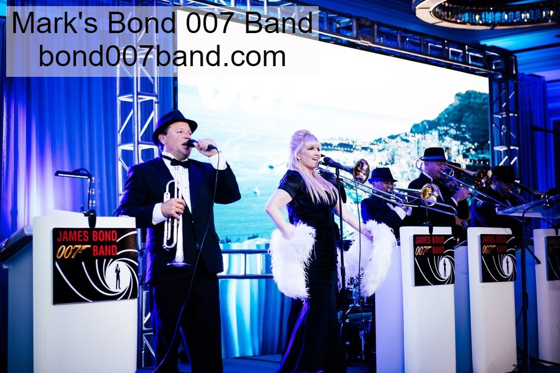 James Bond Band, James Bond tribute band, James Bond theme band, James Bond Orchestra, James Bond Entertainment, James Bond theme band, James Bond theme entertainment, Orlando, Florida.